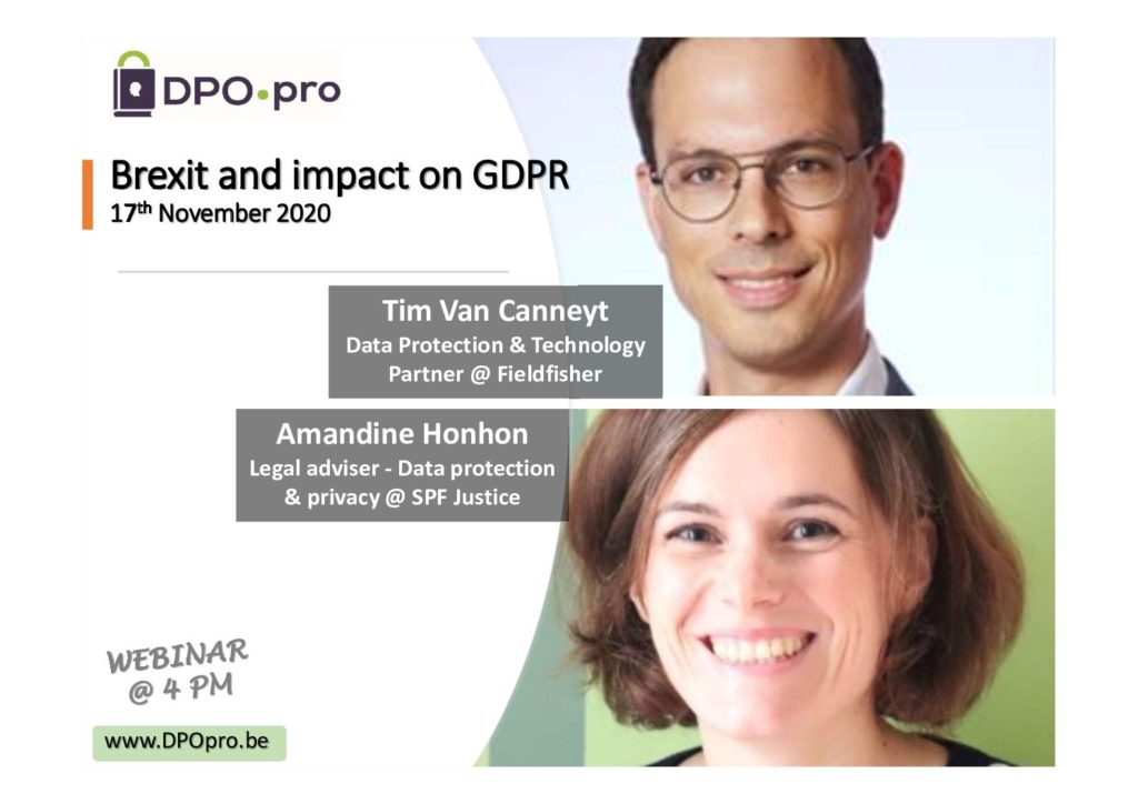 Brexit & impact on GDPR – Presentation & recording