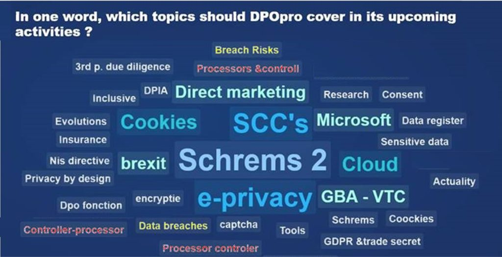 In one word, which topics should DPO-pro cover in its upcoming activities