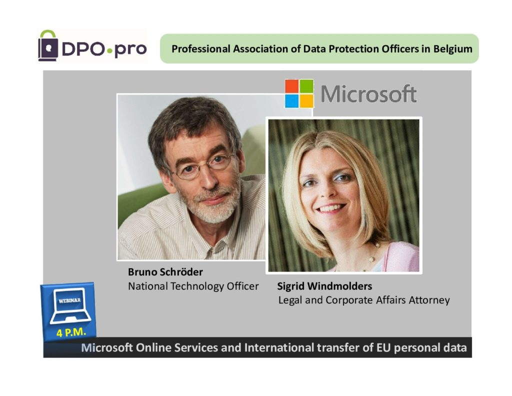 MICROSOFT ONLINE SERVICES AND INTERNATIONAL TRANSFER OF EU PERSONAL DATA