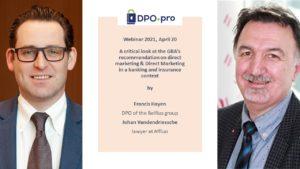Un regard critique sur la recommandation de l'APD concernant le marketing direct & Le marketing direct dans un contexte de banque et d'assurance