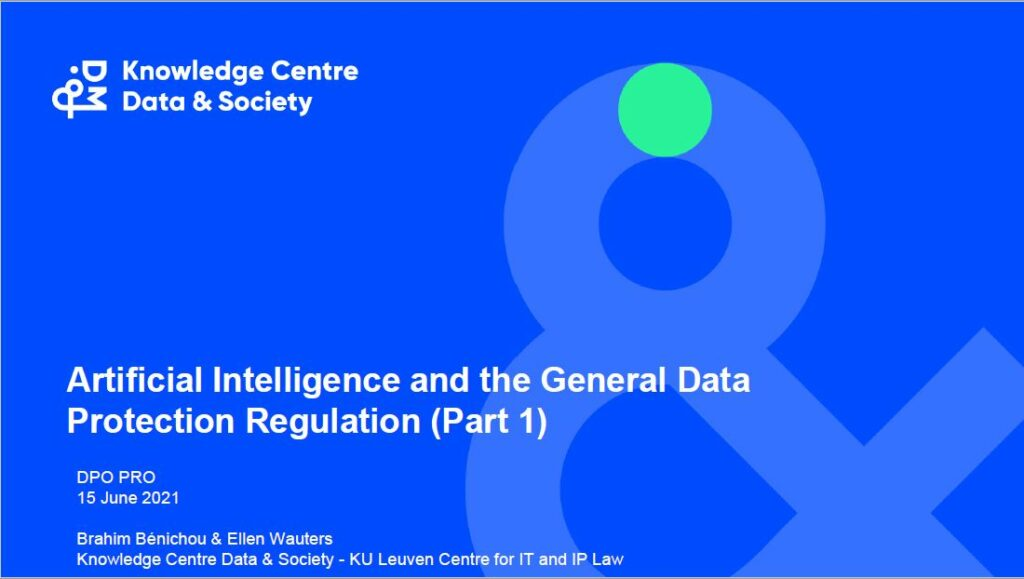Artificial Intelligence and the General Data Protection Regulation